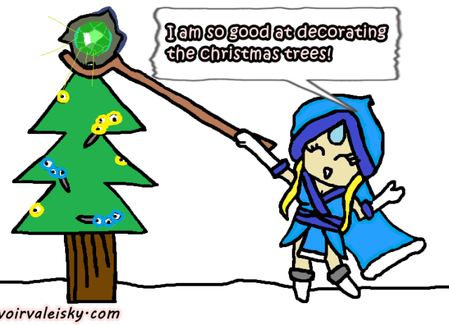 crystal maiden xmas worded