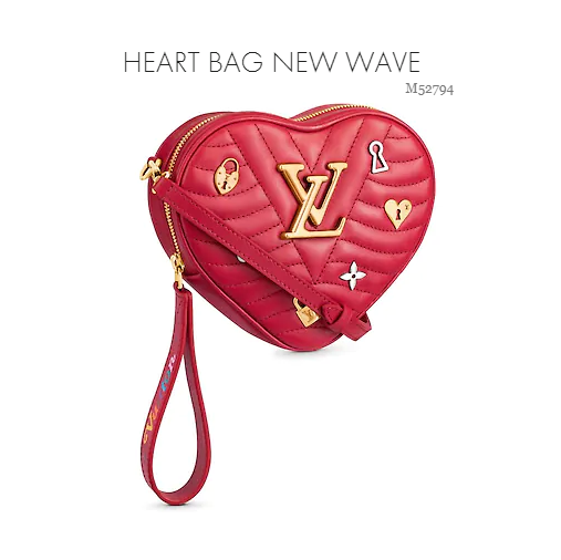 lv heart bag